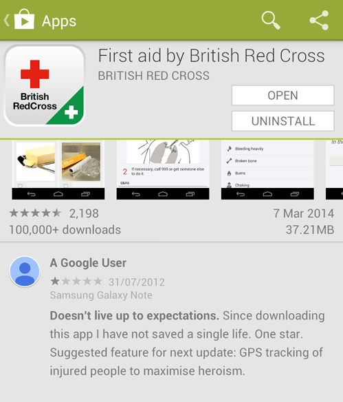 phones first aid red cross apps failbook g rated