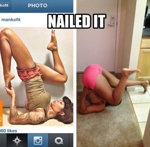 expectations vs reality so close Nailed It yoga - 8159696640