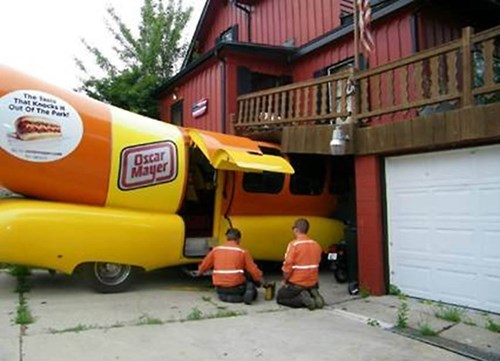 Probably bad News hot dog news not what it looks like weinermobile oscar meyer - 8159710720