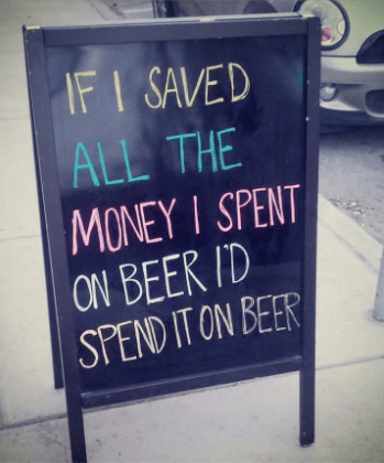 beer money funny sign - 8159786496