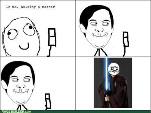 me gusta,light saber,markers