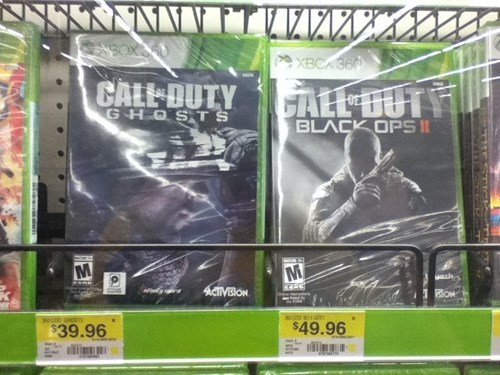 call of duty,black ops II,prices,Walmart