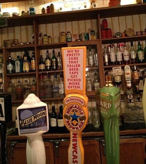 beer Newcastle funny tap after 12 g rated - 8159862528