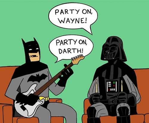 darth vader,batman,bruce wayne,puns,star wars