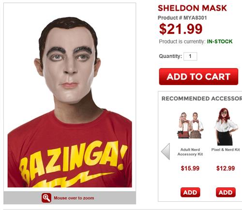 funny Sheldon Cooper masks - 8159896832