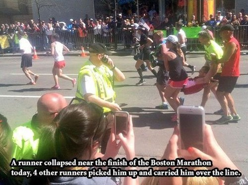 marathon,sports,random act of kindness,restoring faith in humanity week,boston marathon