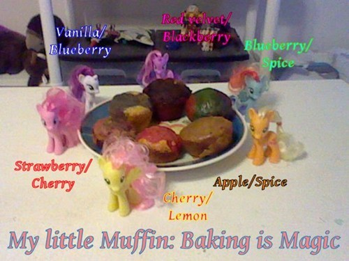 mane 6,themed snacks,muffins