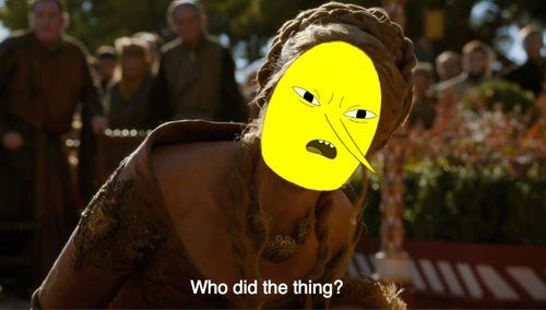 adventure time,cersei lannister,crossover,cartoons,Game of Thrones,lemongrab