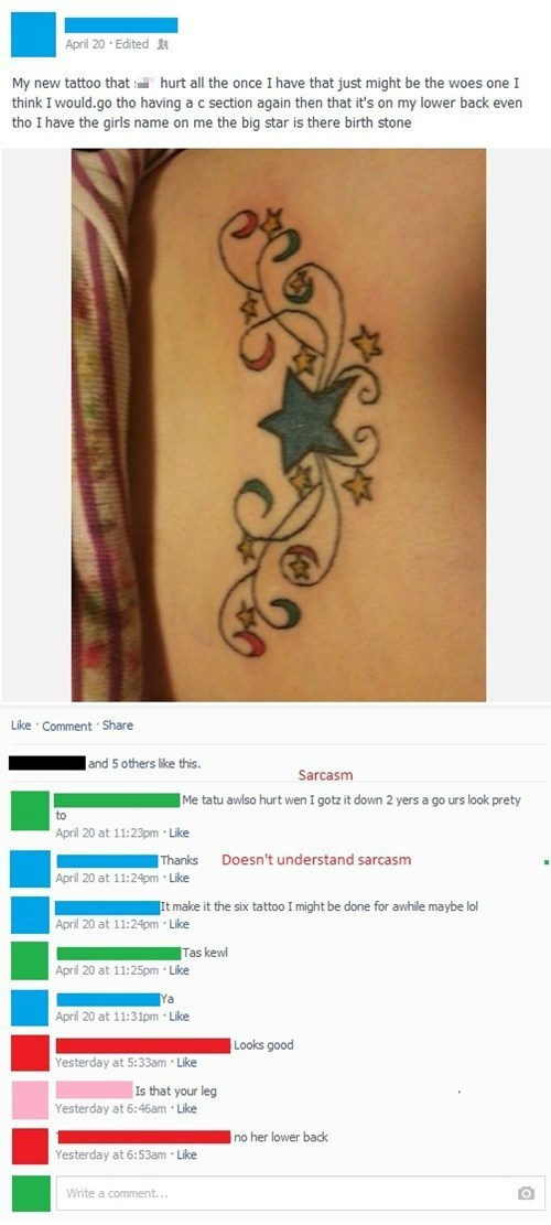 tattoo parenting sarcasm failbook g rated - 8160234496