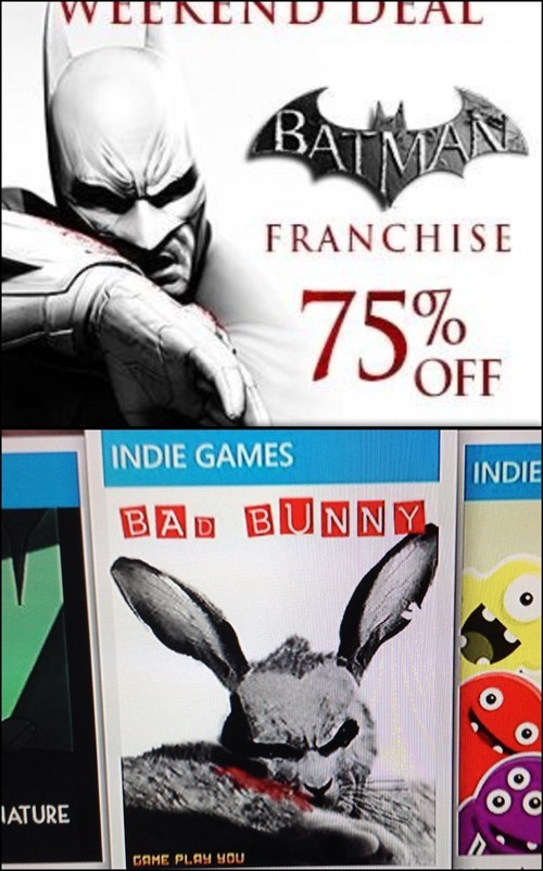 video game covers batman bunny indie games - 8160486912