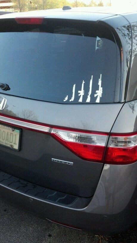 bumper stickers,family,guns