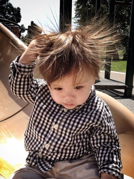 hair slide kids static electricity playground parenting