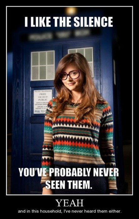 hipster,doctor who,the silence,funny