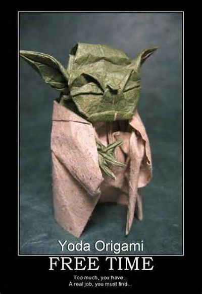 star wars,freetime,papercraft,yoda,funny