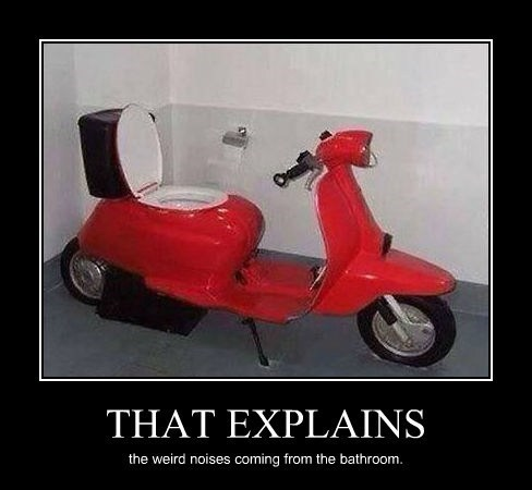 farts scooter toilet funny - 8160677888