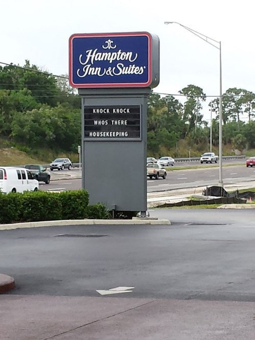 hampton suites knock knock jokes - 8160811776