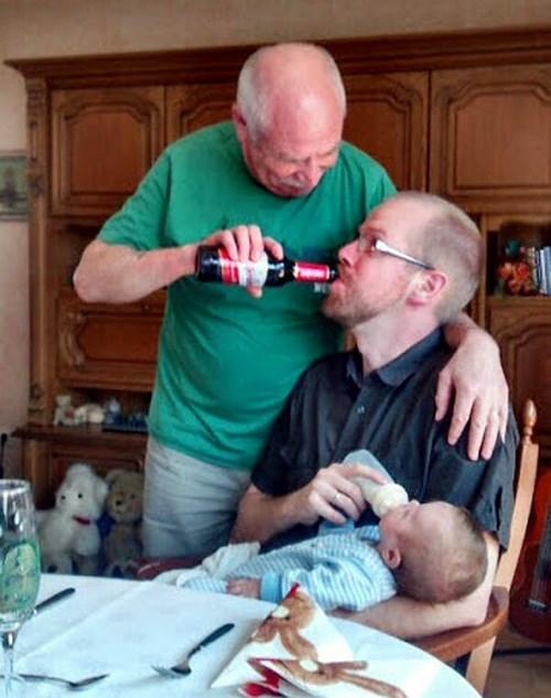 bottle baby parenting dad Grandpa g rated - 8160812800