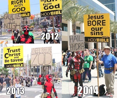 deadpool,hail hydra,protesters
