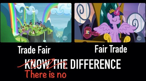 twilight sparkle,know the difference,trade ya