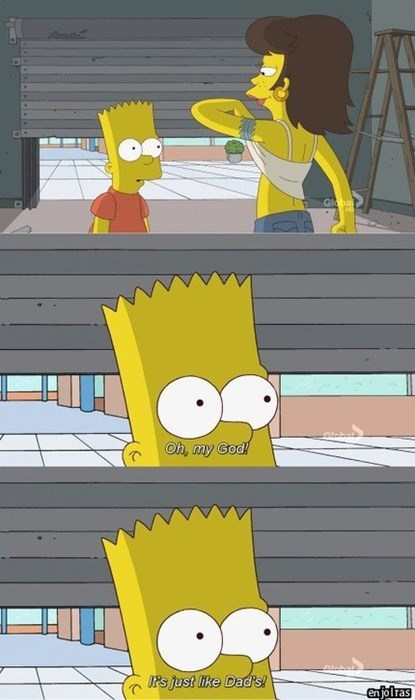 boobies bart simpson sexy times the simpsons - 8161310976