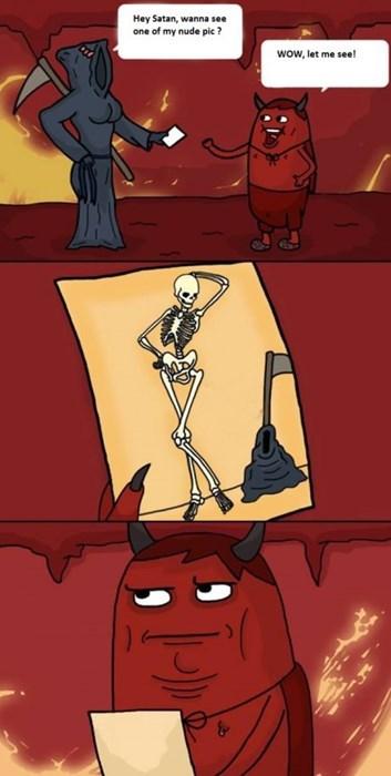 flirting satan grim reaper web comics - 8161805056