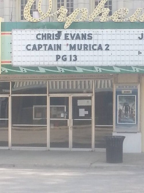 murica,theater,captain america