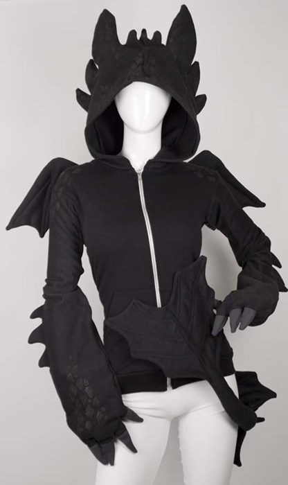 dragon poorly dressed hoodie win g rated - 8162117376