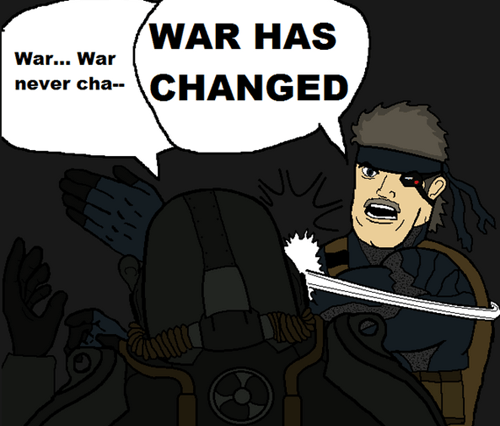 fallout,war never changes,metal gear