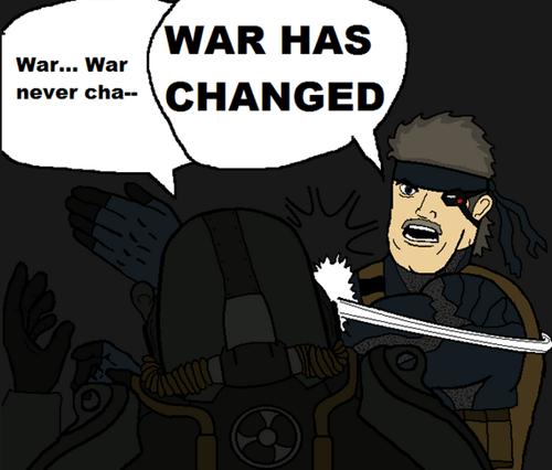 fallout war never changes metal gear - 8162223872