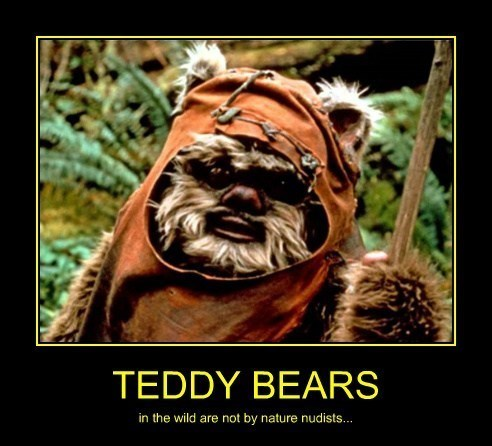 clothes funny ewok teddybear - 8162482176