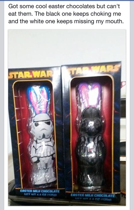 candy,easter,star wars,stormtrooper,darth vader,failbook,g rated