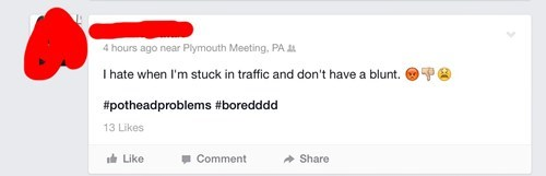 drugs marijuana Oversharing traffic