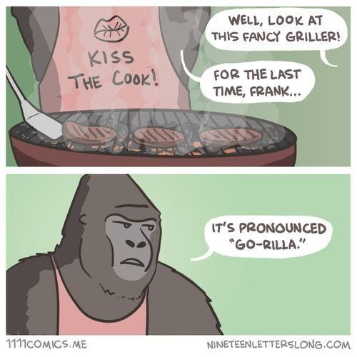 comics puns gorillas funny - 8162616064