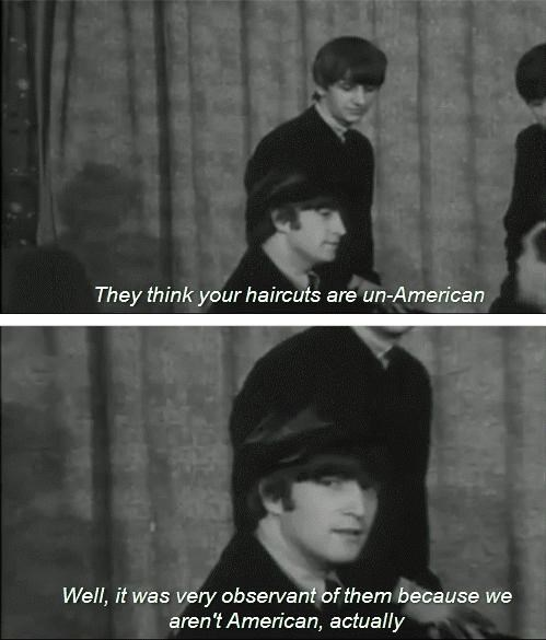 the Beatles,americans,interview,funny