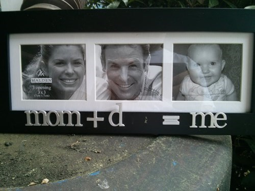 baby whoops parenting picture frame - 8163219456