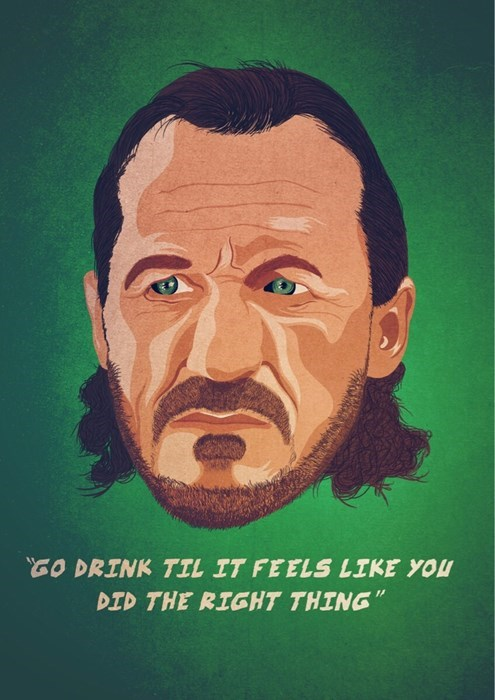 alcohol,drinking,bronn,Game of Thrones