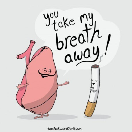 cigarettes puns lungs web comics - 8163304704