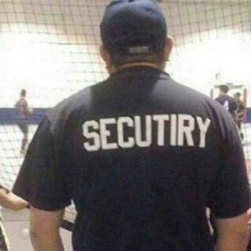 security monday thru friday misspelling work - 8163449600