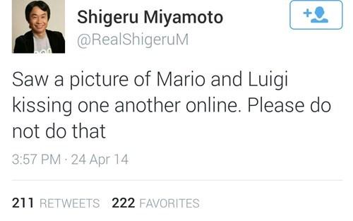 nintendo,mario,luigi,shigeru miyamoto,twitter