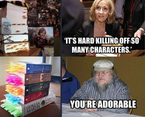 grrm,George RR Martin,Game of Thrones,Harry Potter,jk rowling