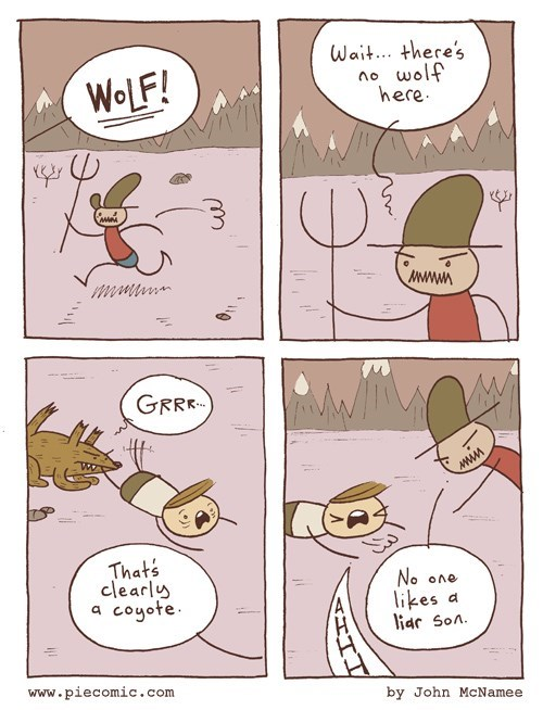 coyotes,liars,web comics,wolves