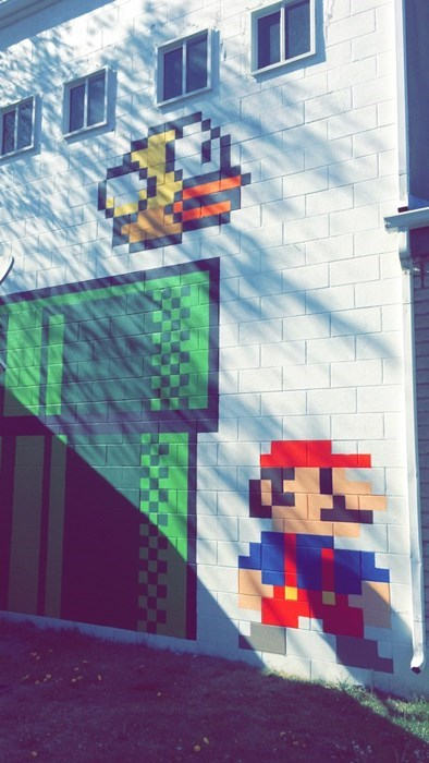 Street Art,flappy bird,mario