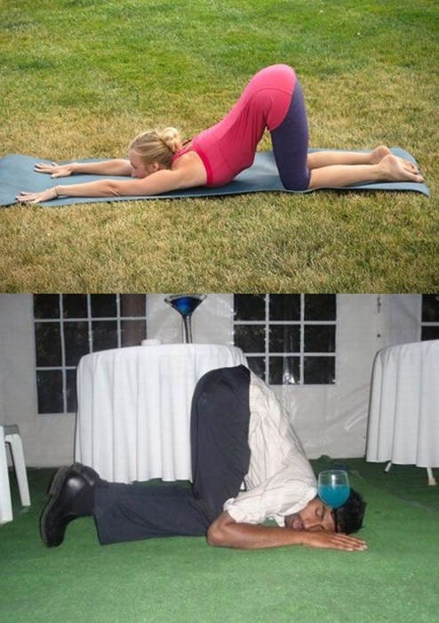 drunk flexible funny yoga - 8163939840