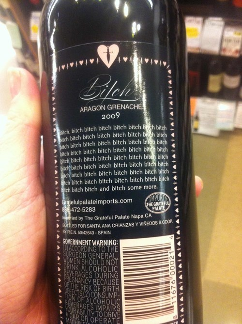 label funny wine swearing - 8163982848