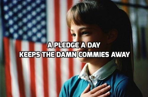 commies communism pledge of allegiance - 8164049664
