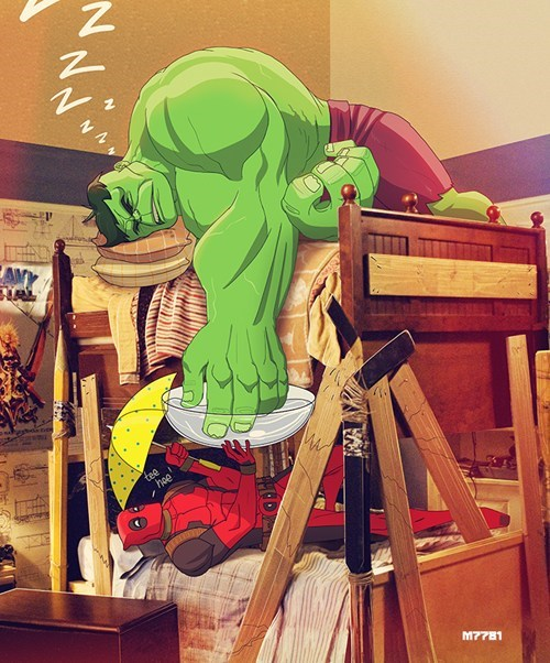 the hulk Fan Art deadpool - 8164462336