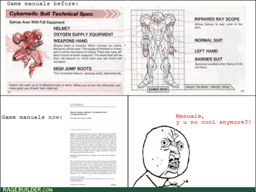 Y U NO,manuals,video games