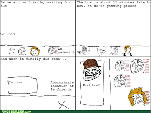 rage,trollface,school bus