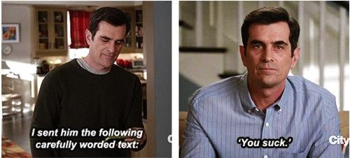 Modern Family text funny rude - 8165083904