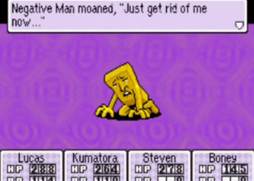 mother 3,negative man,depression